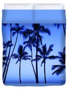 Coconut Palms At Dawn Duvet Cover