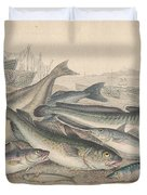 Cod And Halibut Duvet Cover