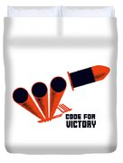 Code For Victory - Ww2 Duvet Cover