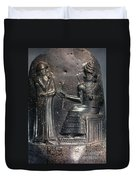 Code Of Hammurabi (detail) Duvet Cover