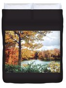 Coe Lake Fall Series 1a Duvet Cover
