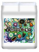 Coexisting With Coffee And Donuts Duvet Cover