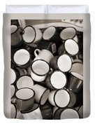 Coffe Cups 2 Duvet Cover