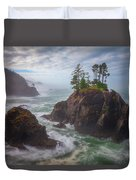 Coffee Along The Coast Duvet Cover
