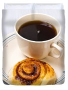 Coffee And Breakfast Roll Duvet Cover