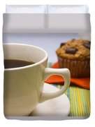 Coffee And Chocolate Muffin Duvet Cover