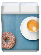Coffee And Donut Duvet Cover
