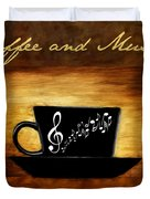 Coffee And Music Duvet Cover