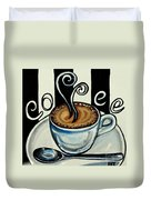 Coffee At The Cafe Duvet Cover