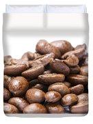 Coffee Beans Closeup Duvet Cover