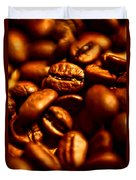 Coffee  Beans- Gold Duvet Cover