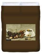 coffee beans Still Life Duvet Cover