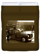 Coffee Cab Duvet Cover