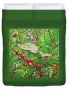 Coffee Cherries Duvet Cover