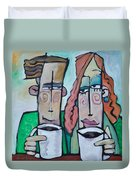 Coffee Date Duvet Cover