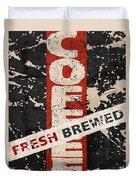Coffee Fresh Brewed Duvet Cover