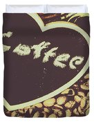 Coffee Heart Duvet Cover