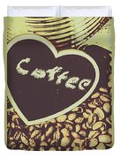 Coffee Heart Duvet Cover