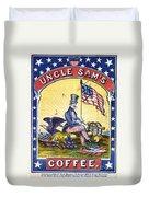 Coffee Label, C1863 Duvet Cover