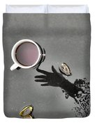 Coffee On Black Top Pond No. 5 Duvet Cover