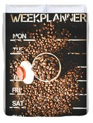 Coffee On The Menu Duvet Cover