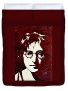 Coffee Painting John Lennon Duvet Cover