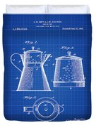 Coffee Pot Patent 1916 Blue Print Duvet Cover