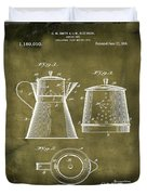 Coffee Pot Patent 1916 Grunge Duvet Cover