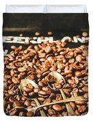 Coffee Service Scene Duvet Cover