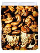 Coffee Shop Companions  Duvet Cover