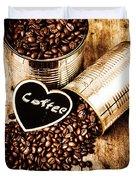 Coffee Shop Love Duvet Cover