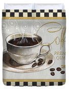 Coffee Shoppe 1 Duvet Cover