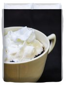 Coffee With Whipped Cream Duvet Cover