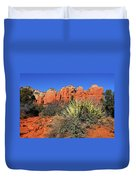 Coffeepot And Cactus Az Duvet Cover