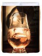 Cognac Glass On Bar Counter Duvet Cover