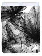 Coherence - Black And White Modern Art Duvet Cover