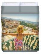 Coimbra Aerial Woman Duvet Cover