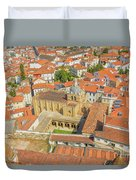 Coimbra Cathedral Aerial Duvet Cover