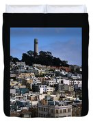 Coit Tower In San Francisco Duvet Cover