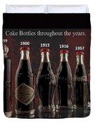 Coke Through Time Duvet Cover