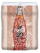 Coke Typography Duvet Cover