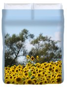 Colby Farms Sunflower Field Newbury Ma Standing Tall Duvet Cover
