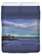 Cold Boat Ride Duvet Cover