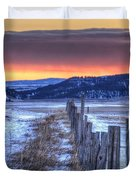 Cold Country Sunrise Duvet Cover