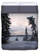 Cold Dawn On Boot Lake Duvet Cover