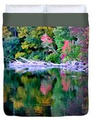 Cold Spring Harbor Reflections Duvet Cover
