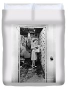 Cold Storage Room, C1940 Duvet Cover