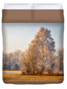 Cold Winter Evening In The Valley Duvet Cover