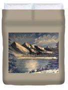 Cold Winter Lake Duvet Cover