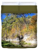 Coldwater Trout Stream Duvet Cover